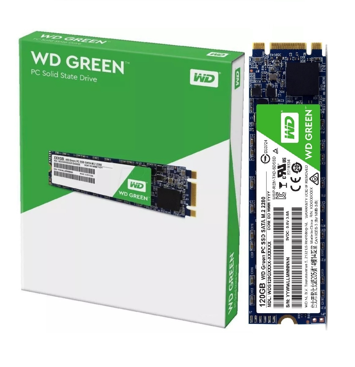 SSD M.2 120GB WESTERN DIGITAL GREEN 545MB/S 2280