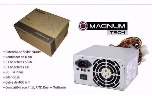 Fuente Alimentación Pc Atx 500w Magnum Tech 500 Box