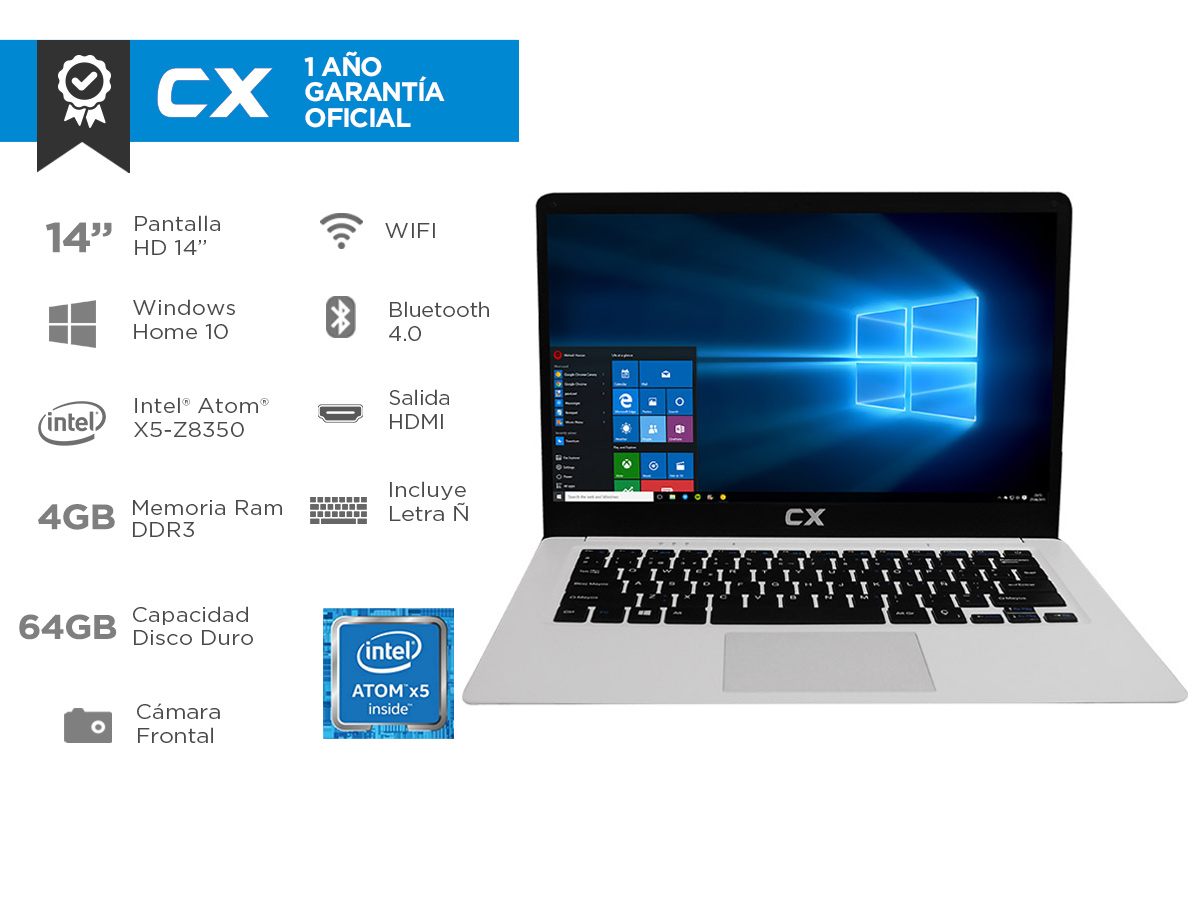 NB CX 14 INTEL 4G+64G+W10H - CLOUDBOOK IPS