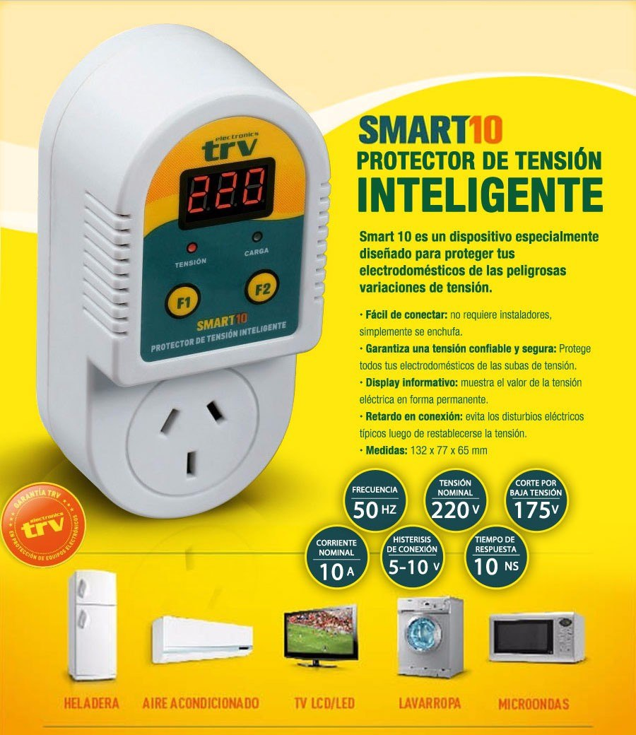 Protector De Tension Inteligente Electro 220v Trv Smart 10