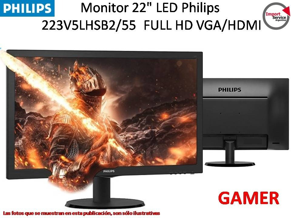 MONITOR 22 LED PHILIPS HDMI /VGA VESA